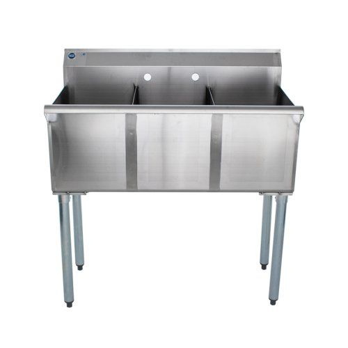 Universal Bs1512 3 Three Compartment Sink 36 In 2020 Three Compartment Sink Sink Floor Drains