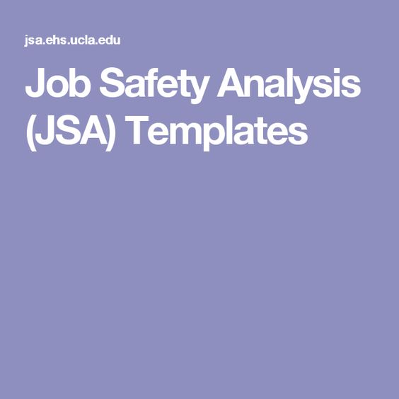 Job Safety Analysis (JSA) Templates Circles Pinterest - job safety analysis form template