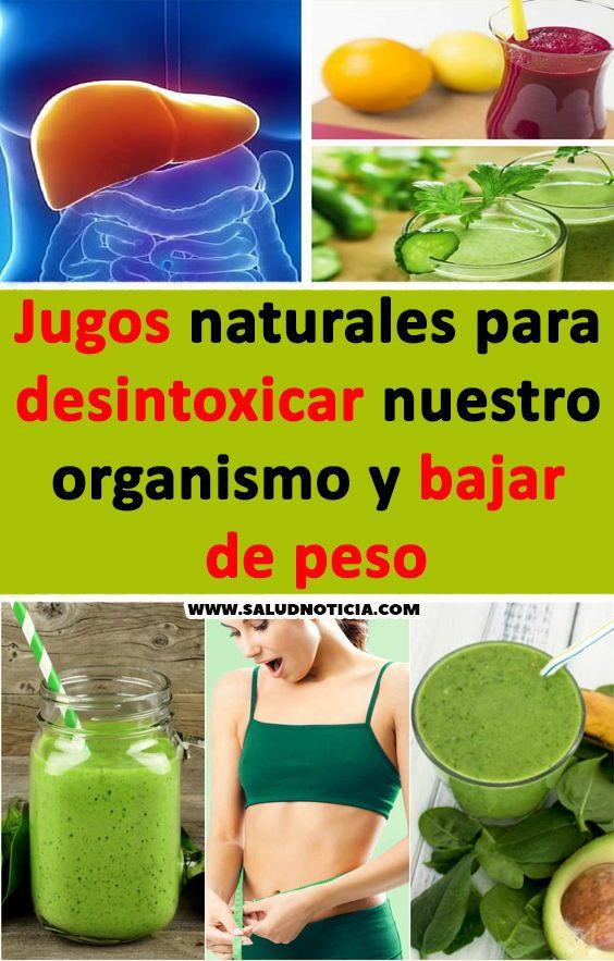 Como bajar de peso jugos naturales