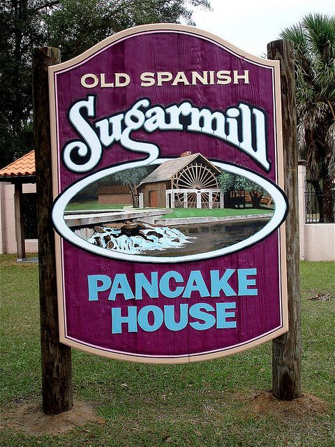 Sugarmill Pancake House,Located inside DeLeon Springs State Park, DeLeon Springs, FL - best pancakes in the world!
