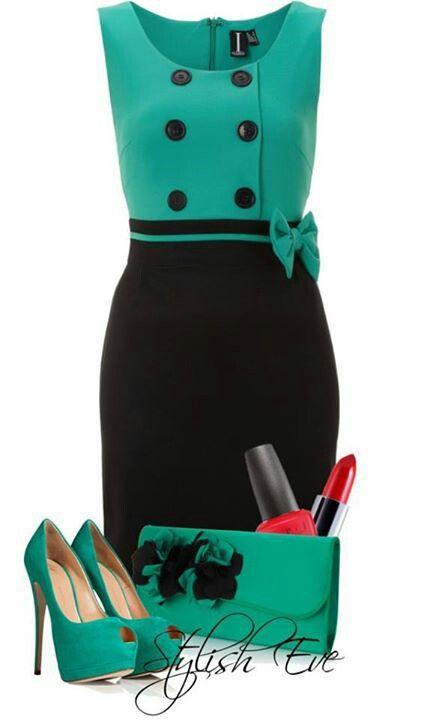 Green & black Dressy m