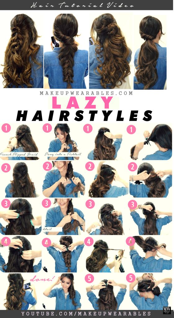 Fine Fall Hairstyles Videos And Braid Ponytail On Pinterest Short Hairstyles Gunalazisus