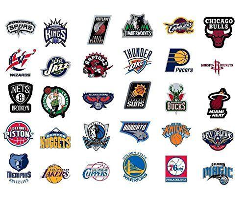 Nba National Basketball Association Team Logo Stickers Set Of 30 Teams 4 X 3 Size Team Logo Design Nba Basketball Teams Basketball Teams