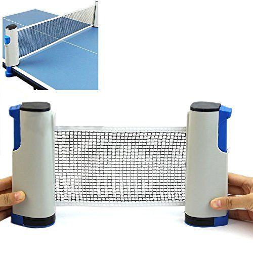 Vinto King Fitness Innovative Retractable Table Tennis Net With Adjustable Length And Push Clamps Multicolor In 2020 Table Tennis Table Tennis Net Tennis Nets