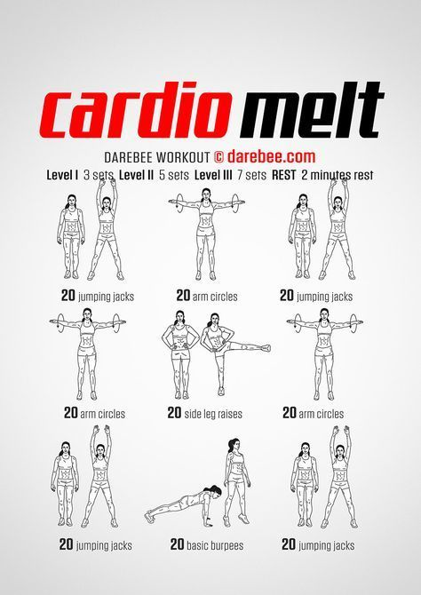 New Workout Cardio Melt Workout Darebee Workout Fitness Cardio Workout At Home Cardio Workout Short Workouts