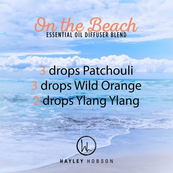 Who doesn't love the beach, right? I know I do! Well, this is a great diffuser blend to make you feel like you are on the beach, no matter where you are! Plus you get the amazing benefits of these wonderful essential oils! Patchouli has a calm, grounding effect. Wild Orange protects against seasonal and environmental threats, and Ylang Ylang lifts the mood. This combination gives a sweet, citrus, floral aroma that will have your senses sailing away to the beach in no time. www.hayleyhobson.c...