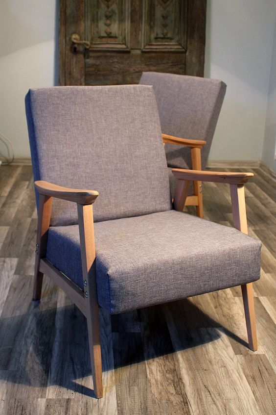 Vintage Armchairs by Furniture Restoration, via Behance: