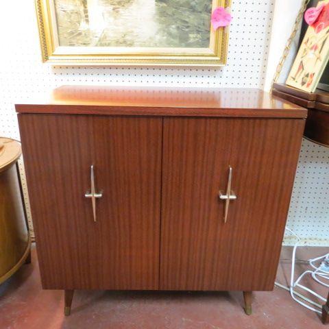 SOLD. $540 vintage mid century modern painted credenza c. 1960 ...
