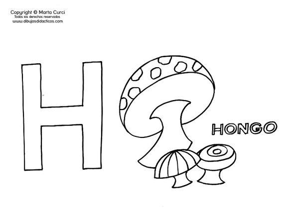 Dibujos Para Colorear Que Empiecen Con La Letra A: Dibujos Que Empiecen Con La Letra H