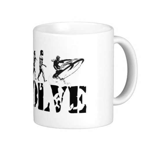 Jetskiing Jet Ski Jetski Evolution Fun Sports Art #mugs #Sports #Jetski #gifts #holiday