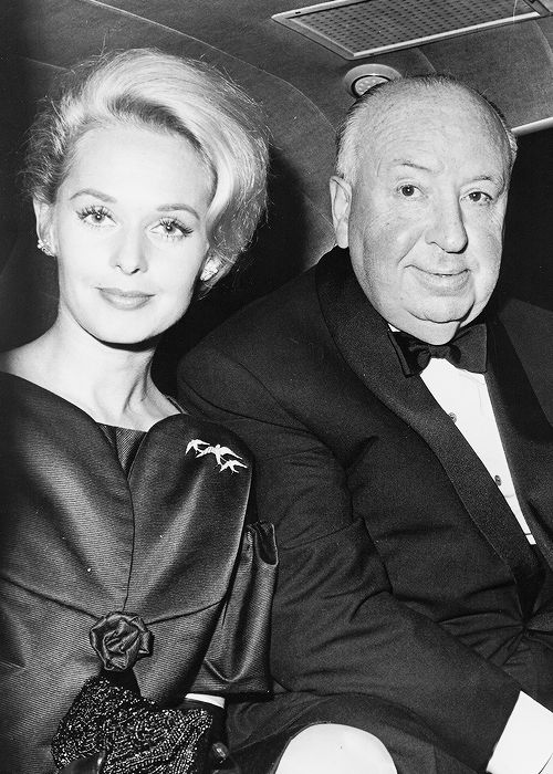 Alfred Hitchcock and Tippi Hedren/****later there was a disagreement between the two and he refused to release her contract, but she refused to work for him. Impasse. She didn't work for a number of years. He was a rascal!