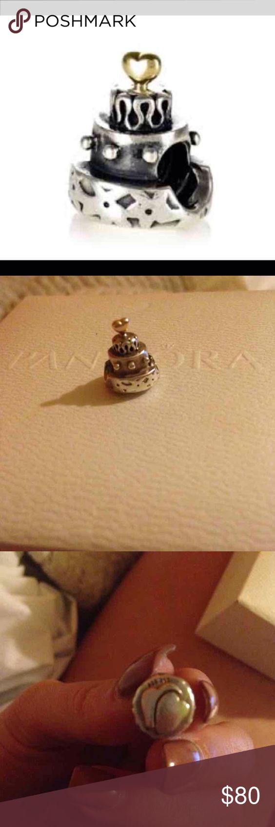 Wedding cake charm 14k wedding cake charm. I got it as a regular birthday present but on Pandora its for weddings. It sure tops all other cake charms! Pandora Accessories
