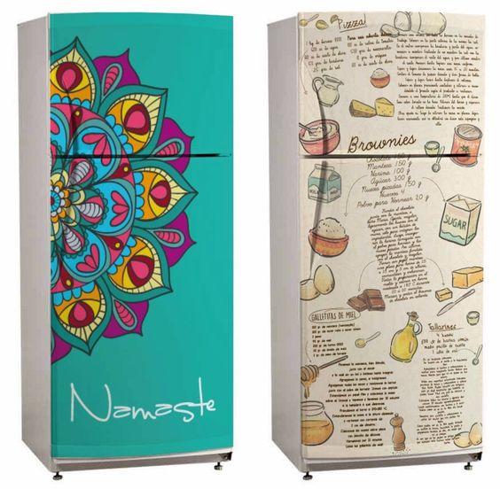 Vinilos decorativos cocina heladera ploteos - Vinilos personalizados pared ...