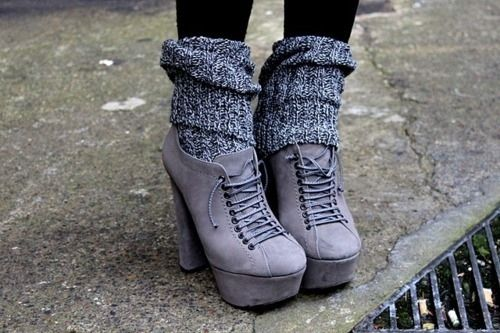 5 inch and up,Fashion,Gray,Knit,Photo,Photography,Socks,Pumps,Wool,Pretty,