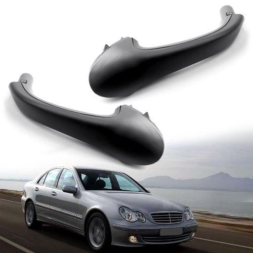2pcs Front Interior Door Pull Handle Oe For Mercedes Benz W203 C Class Black Door Pull Handles C Class Mercedes