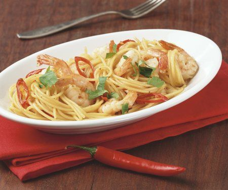 Rezept: Scharfe Pasta mit Garnelen