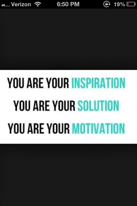 You are your inspiration quote painted on bathroom wall