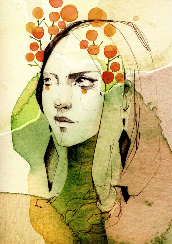 """SPRING"" by Ekaterina Koroleva, via Behance"