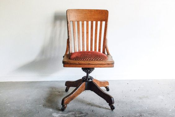antique office chair antique desk chair wood office by littlecows  345.00