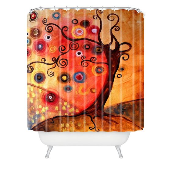 Natasha Wescoat With The Wave Shower Curtain | DENY Designs Home Accessories