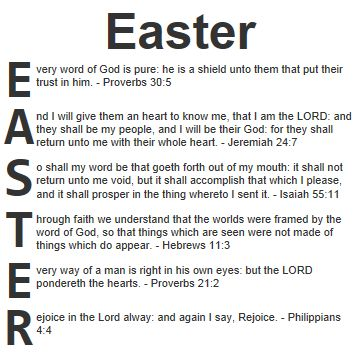 easter scriptures | Acrostic blessings for Easter in the ...