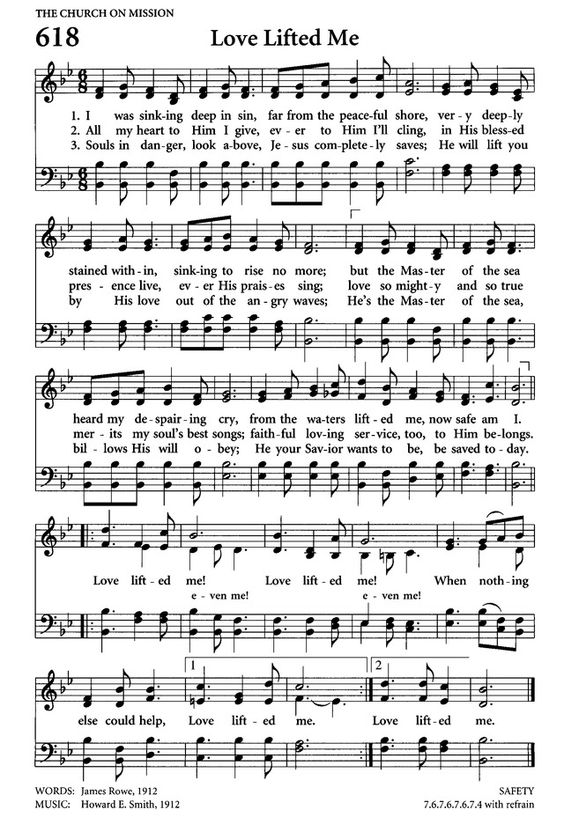 love lifted me sheet music - Google Search:
