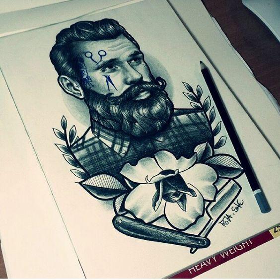~ Drawing Tattoo Barber ~ by Sake Tattoo Crew