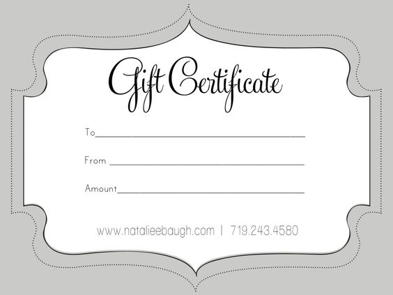 A cute looking gift certificate S P A Pinterest Gift - blank voucher template