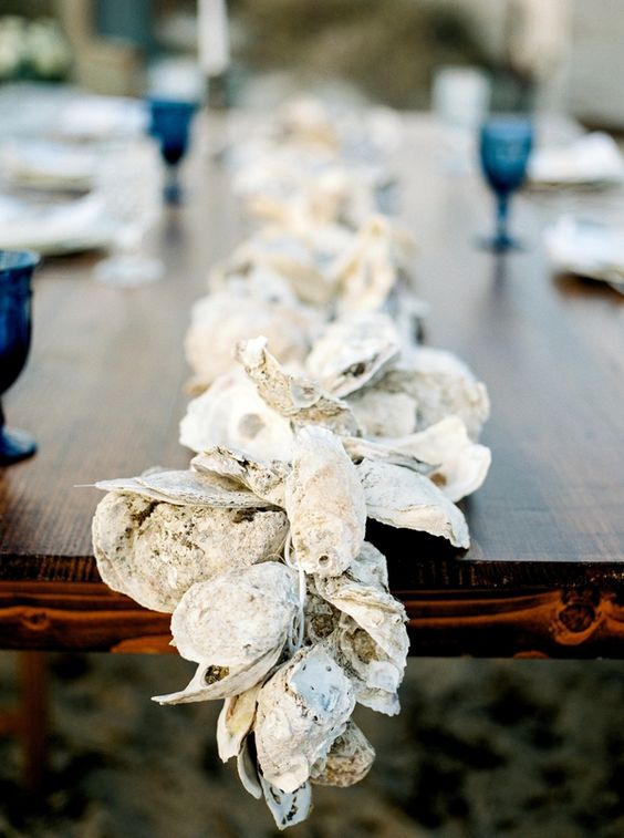 oyster table runner