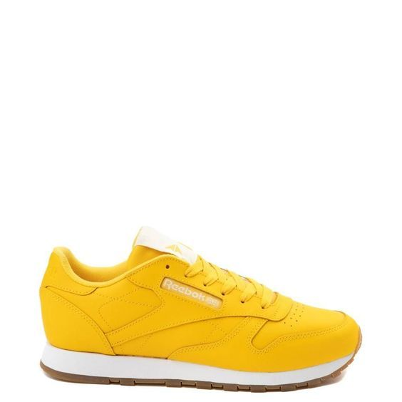 Check out the Yellow Womens Reebok Classic Athletic Shoe at