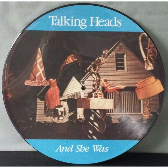 Talking Heads – And She Was (single cover art)