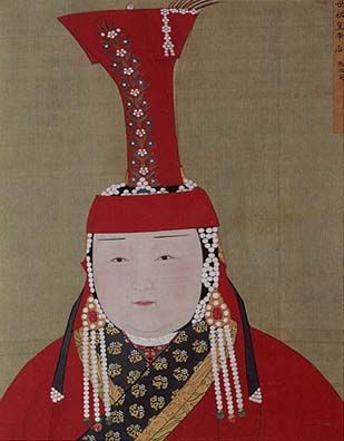 The portrait of Chabi, wife and Empress of Khublai Khan