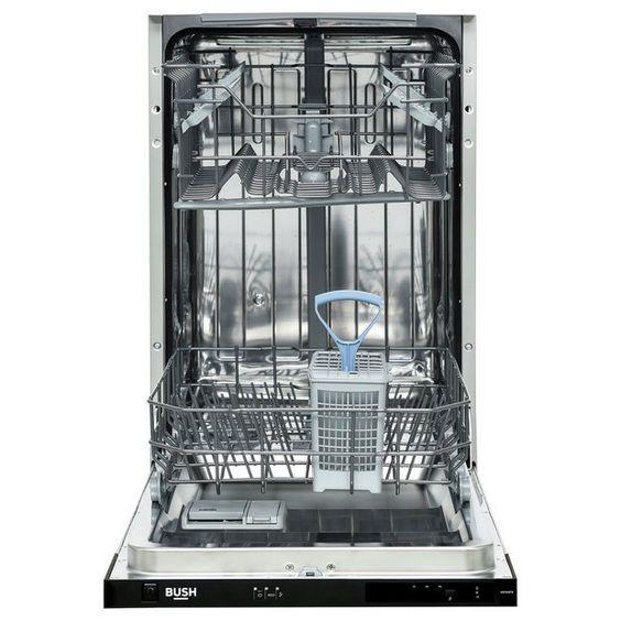 Buy Bush Dw9slintw Slimline Integrated Dishwasher Dishwashers