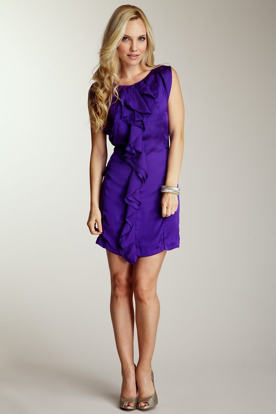 Jessica Simpson Ruffle Front Dress