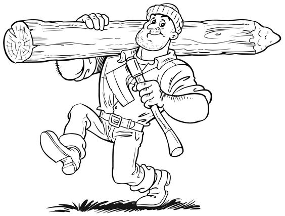paul bunyan coloring pages kids - photo#15