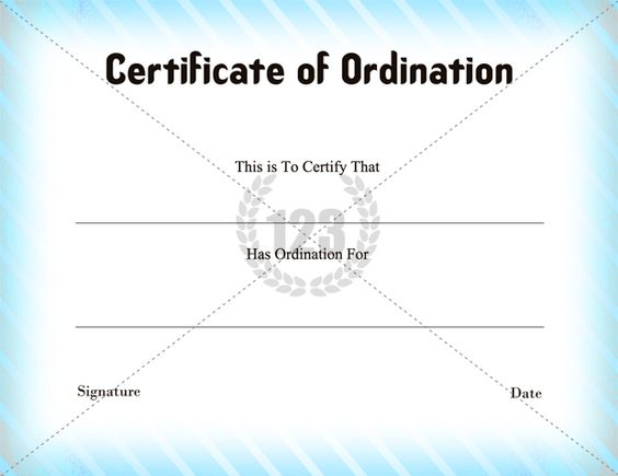 Certificate of Ordination Template Download - 123Certificate - certificate of attendance template free download