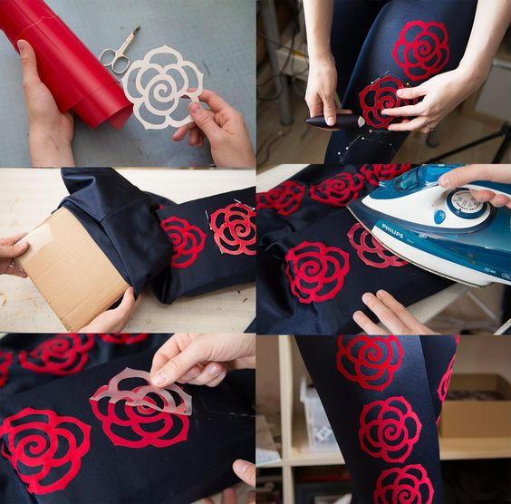 How to iron on foil to lycra spandex