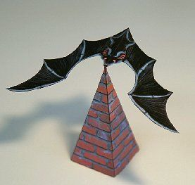 This balancing bat caught my attention a couple of days ago as I was looking for a simple yet cool paper craft to do with the kids (5-8 years old) for a b-day party. This was a great success!