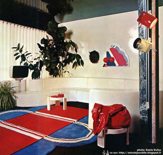 Sarcelles - Appartement Jean-Pierre et Maryvonne Garrault Décoration: Garrault-Delord: Henri Delord, Jean-Pierre Garrault Création: 1972 La maison d'Henri Delord à Chantilly: