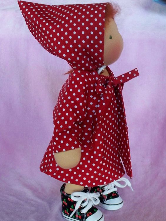 """Waldorf doll  Coat fits 14"""" slim doll 2 pc Coat and Hat fully lined (for sale on etsy)"""