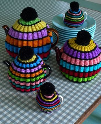 knit tea cozies from jane brocket.  oh my...she makes me want to pick up the needles once again.: