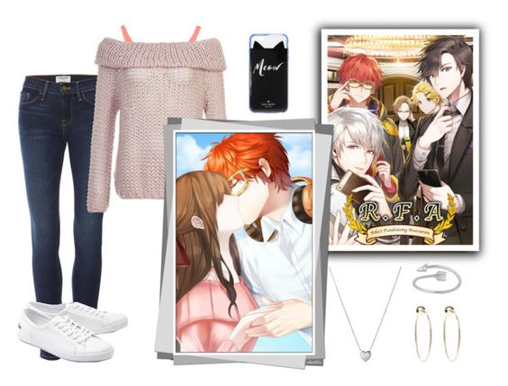"""""""Seven ~ Party (Skipped)"""" by lola-twfanmily ❤ liked on Polyvore featuring Midsummer Star, Frame Denim, Jacqueline De Yong, Lavand., Lacoste, Kate Spade, Links of London and Bebe"""