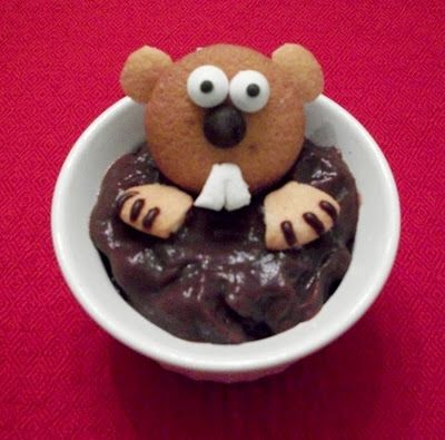 There's not a shadow of a doubt, this cookie and pudding combo is the ideal Groundhog Day dessert