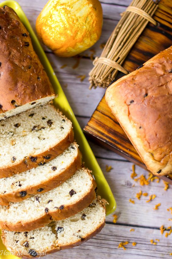 An amazingly delicious tender bread, with a hint of orange and currants.Words…