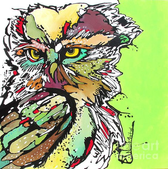 """My Heart Cried Out for You"" Owl Art by Nicole Gaitan  #owlpainting #owlart #birdart   Bird Art"
