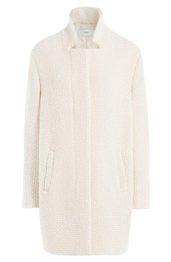 Strukturierter Mantel mit Baumwolle und Wolle detail 0