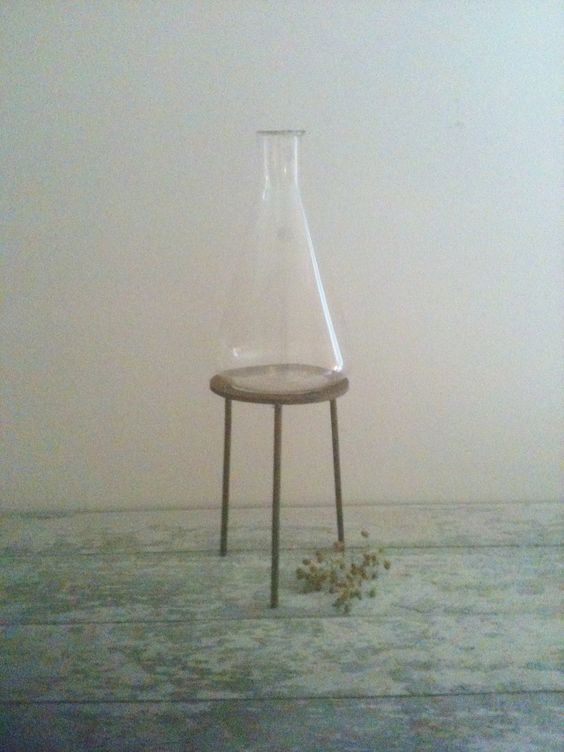 Large Pyrex Lab Beaker with Stand by Plaire on Etsy, $25.00