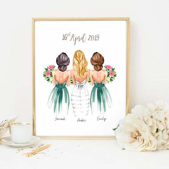 Customized Bridesmaid Gift Ideas Bridesmaids Gift Gifts For Etsy In 2020 Bridesmaids Personalized Personalized Bridesmaid Gifts Customized Bridesmaid Gifts