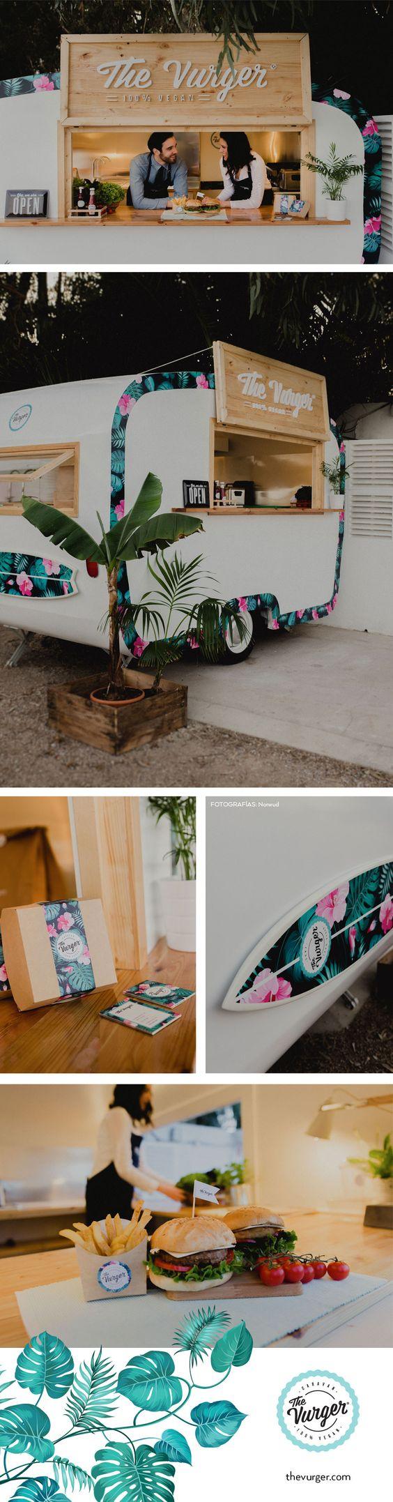 The Vurger Food Truck Caravan · 100% Vegan · Surf style · Tropical ...