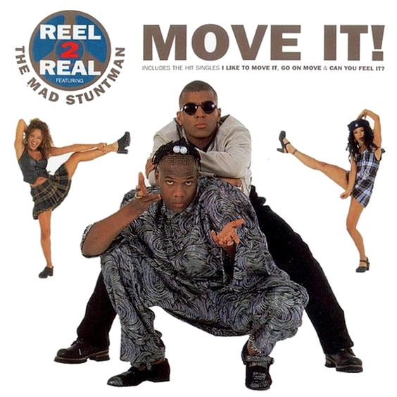 Reel 2 Real, The Mad Stuntman – I Like to Move It (single cover art)